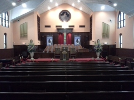 I'm inside of the Ebenezer Baptist Church.